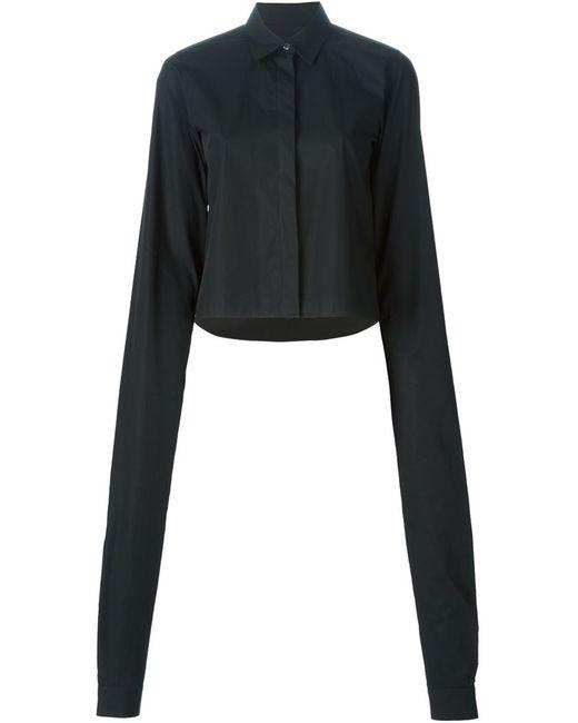 MM6 by Maison Margiela | Женская Чёрная Рубашка С Удлиненными Рукавами