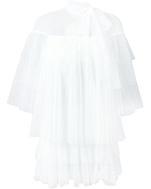 Valentino | Женская Белая Прозрачная Блузка С Бантом