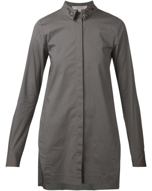 Dorothee Schumacher   Женское Серый Embellished Collar Shirt