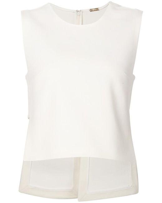 Adam Lippes | Женское Белый Asymmetric Back Slit Top