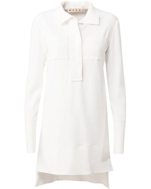 Marni | Женское Белый High-Low Hem Tunic