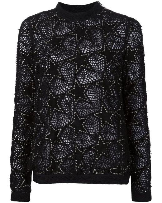 Anthony Vaccarello | Женское Чёрный Embroidered Star Patch Sweater