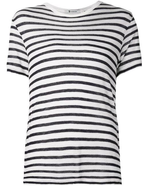 T By Alexander Wang | Женское Чёрный Striped T-Shirt