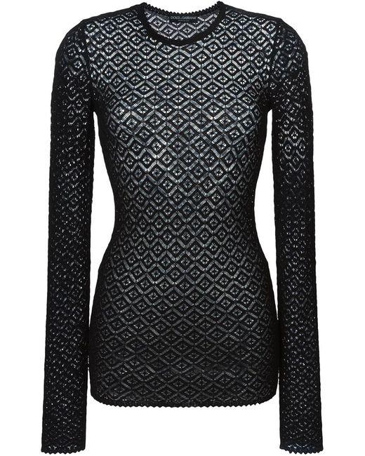 Dolce & Gabbana | Женский Чёрный Вязаный Кружевной Свитер
