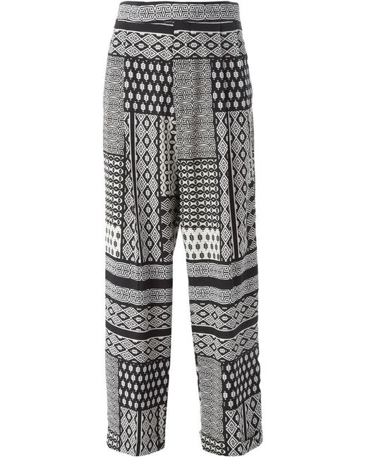 Etro | Чёрный High Waisted Printed Trousers