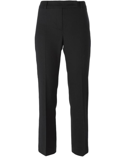 Hache | Женское Синий Slim Fit Cropped Trousers