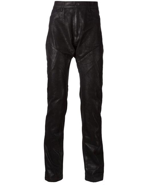 JULIUS | Чёрный Waxed Effect Paneled Trousers