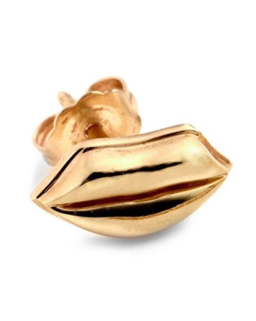 ALISON LOU | Женское Желтый 14kt Lip Stud Earring