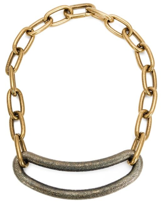 Tomas Maier | Женское Желтый Curvy Piece Link Chain Necklace