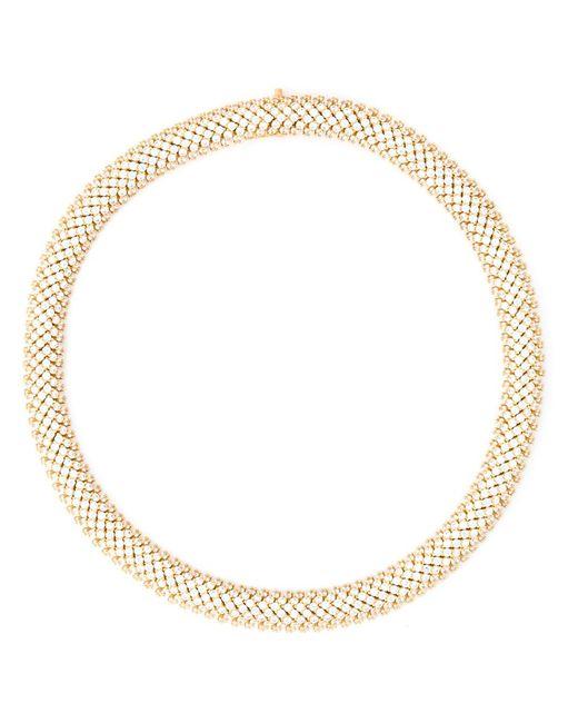 Saint Laurent   Женское Серебристый Popcorn Chain Necklace