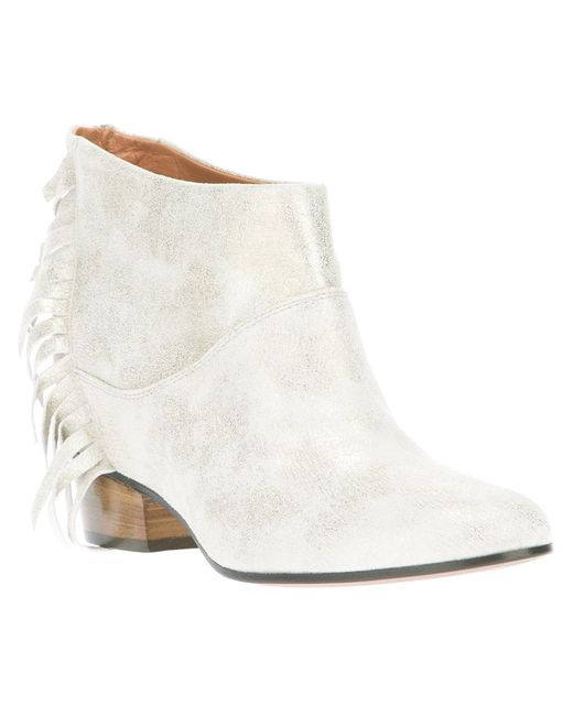 Golden Goose | Серебристый Sun Fringe Ankle Boot