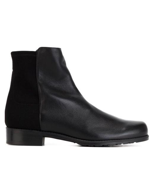 Stuart Weitzman | Женские Чёрные Ботинки По Щиколотку С Панельным Дизайном