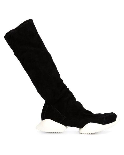 Rick Owens   Мужские Чёрные Сапоги Tech Runner X Adidas