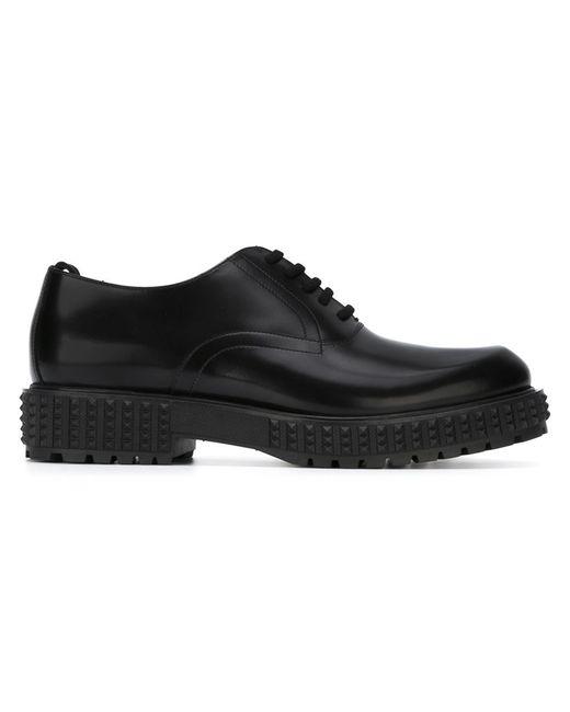 Valentino Garavani   Мужское Чёрный Punky-Ch Derby Shoes