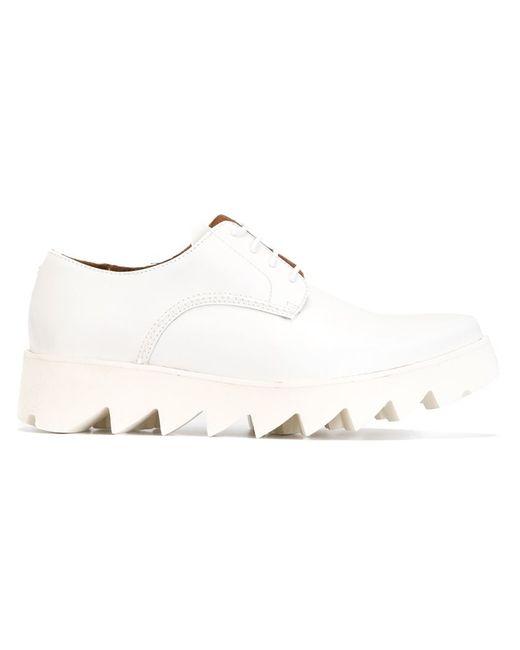 Swear | Женские Белые Туфли На Рифленой Подошве