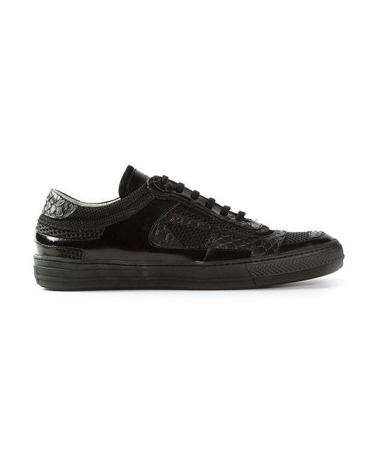 Diesel Black Gold | Мужское Чёрный Panelled Sneakers