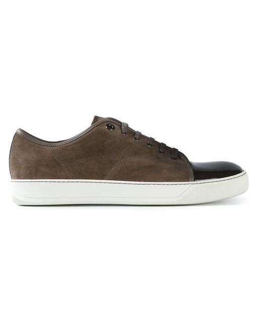 Lanvin | Мужское Коричневый Contrasted Toe Cap Sneakers