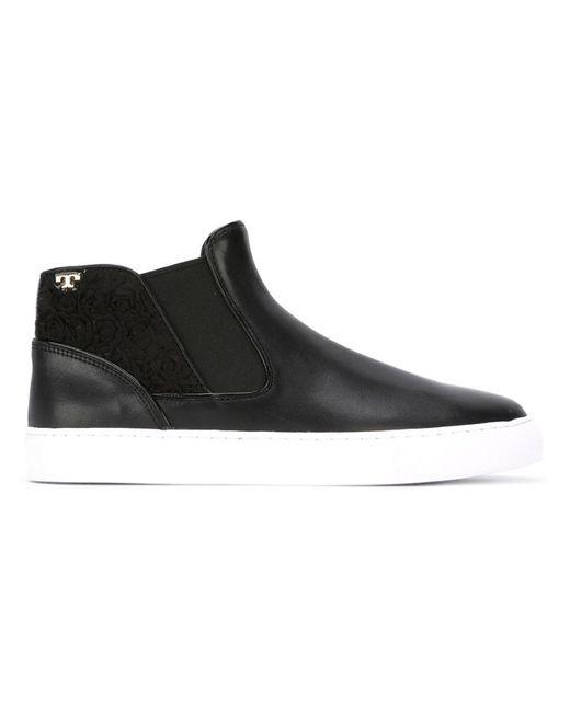 Tory Burch | Женское Чёрный Logo Slip On Sneakers