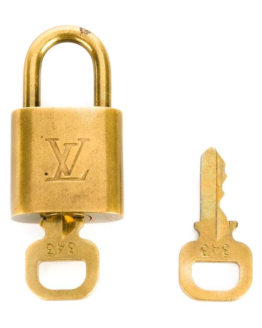LOUIS VUITTON VINTAGE | Женский Серебристый Замок С Логотипом