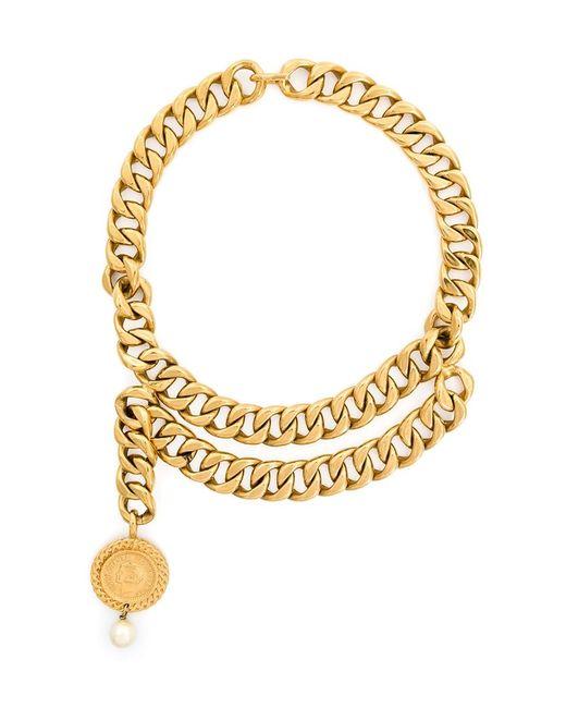 Chanel Vintage | Женское Серебристое Колье С Массивной Цепью