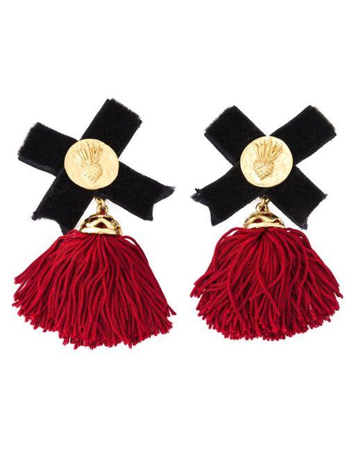 Saint Laurent | Женское Ananas Baroque Earrings