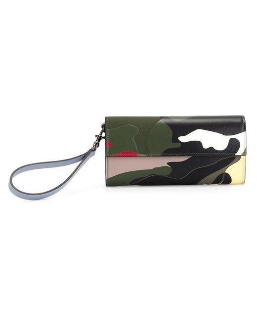 Valentino Garavani   Зелёный Camouflage Wallet