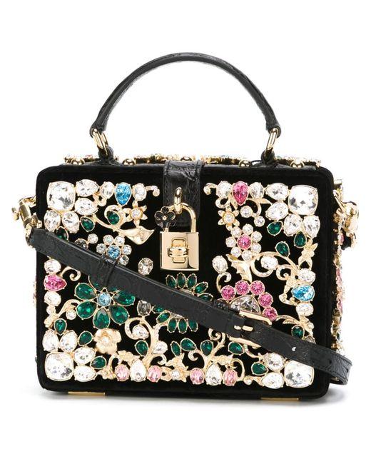 Dolce & Gabbana   Женское Чёрный Embellished Cross-Body Bag