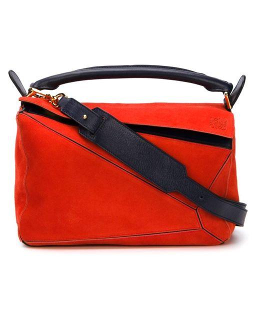 Loewe | Женское Синий Small Puzzel Tote Bag