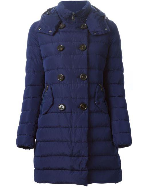 Moncler | Женская Синяя Дутая Куртка Garbet