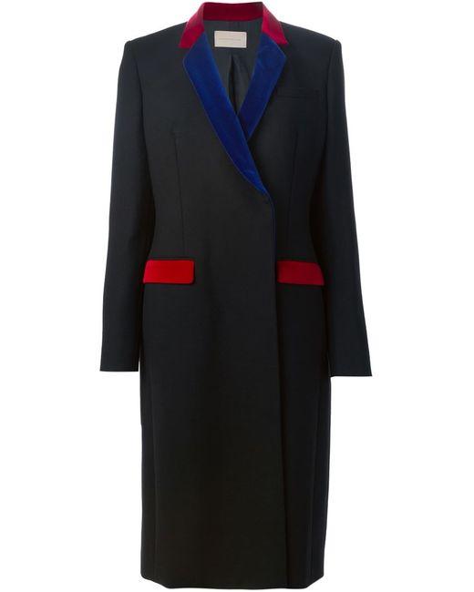 Christopher Kane | Женское Чёрный Velvet Trim Overcoat