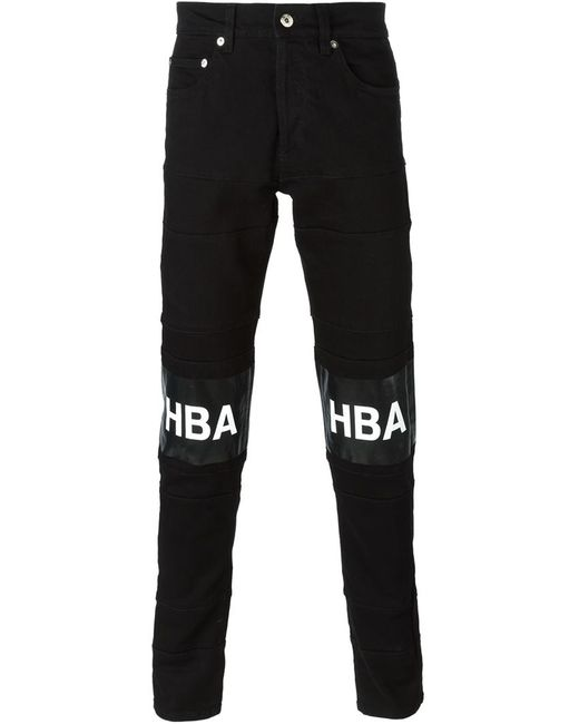 HOOD BY AIR | Чёрный Logo Patch Jeans