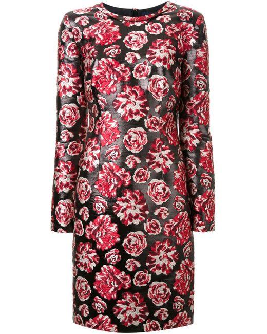 Lanvin | Женское Чёрное Платье С Цветочным Принтом