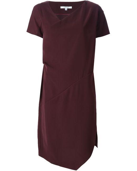 Carven | Женское Красное Платье Асимметричного Кроя
