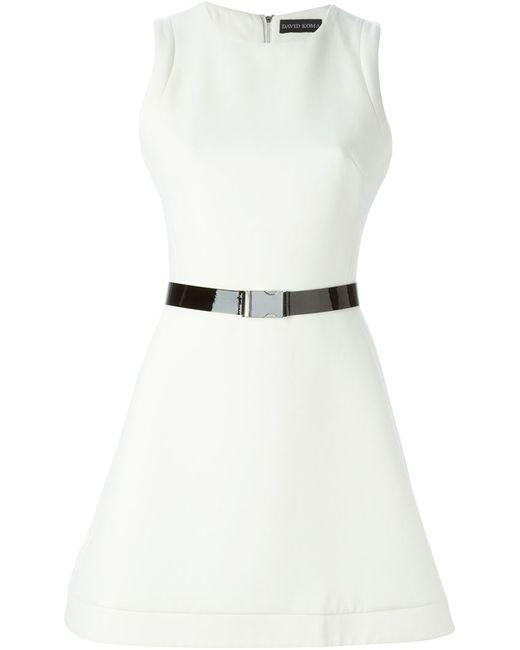 David Koma | Женское Nude & Neutrals Buckled Belt Flared Dress
