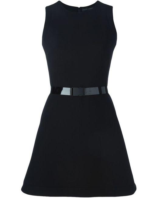 David Koma | Женское Чёрный Buckled Belt Flared Dress