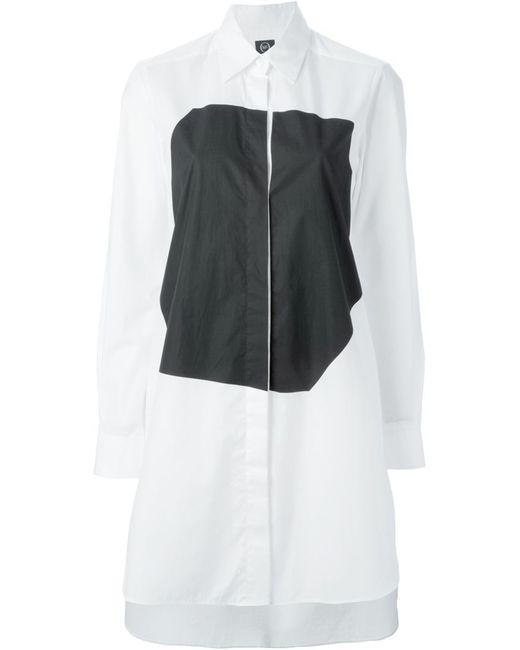 Mcq Alexander Mcqueen | Женское Белое Платье-Рубашка С Геометрическим Панелями
