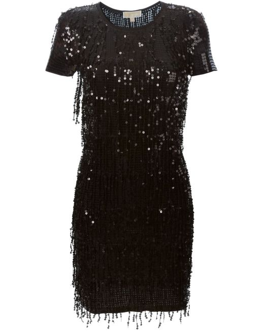 Michael Michael Kors | Женское Чёрное Платье С Пайетками