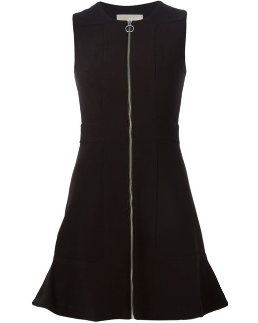 Michael Michael Kors | Женское Чёрный Front Zip Dress