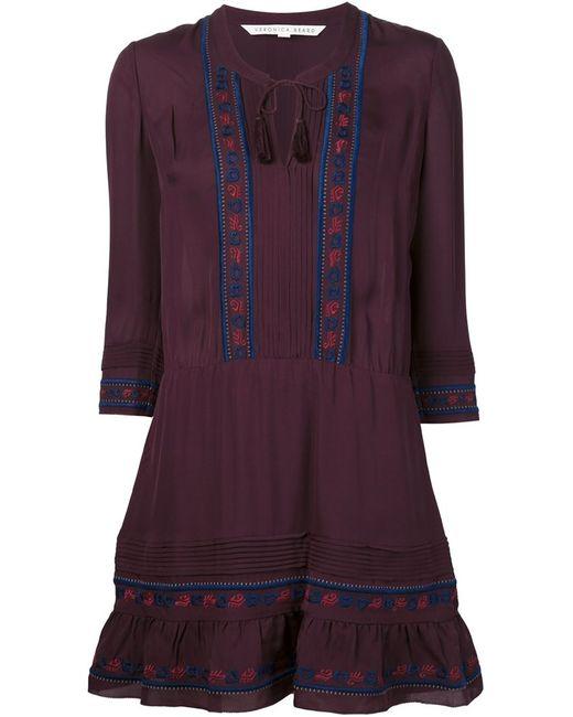 Veronica Beard   Женское Розовый Embroidered Dress