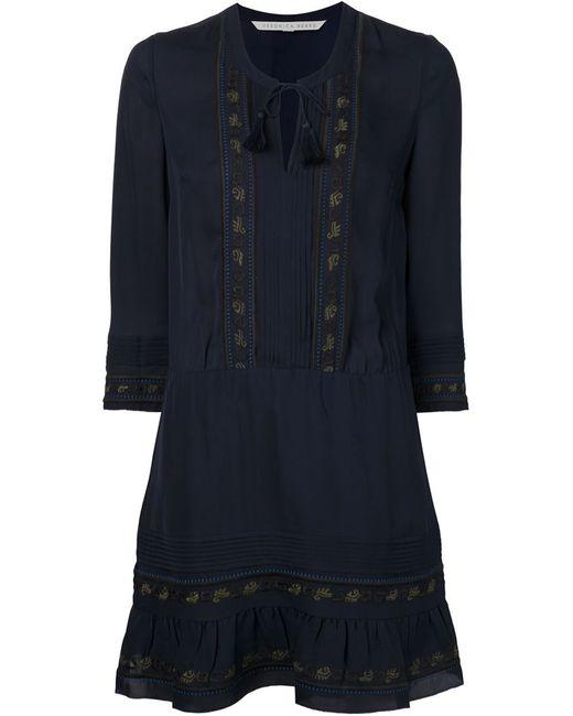 Veronica Beard | Женское Синий Embroidered Dress