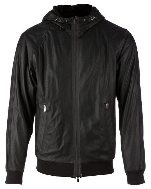 Drome   Мужская Чёрная Куртка С Капюшоном