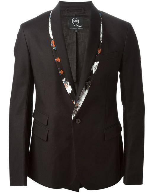 Mcq Alexander Mcqueen   Мужское Чёрный Print Trimmed Tuxedo Jacket