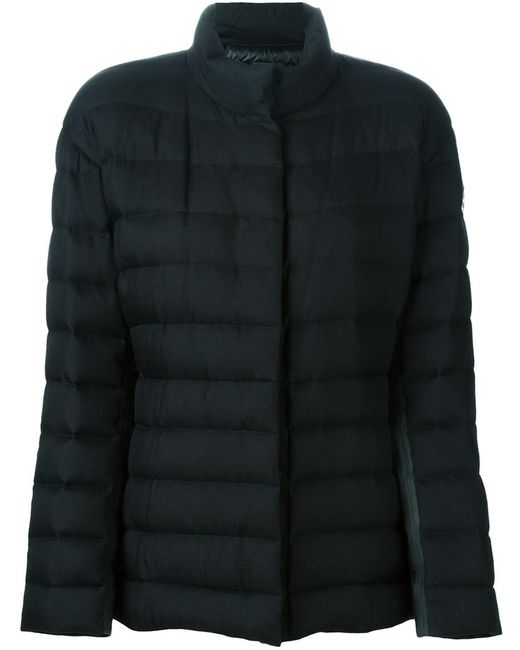 Moncler Gamme Rouge   Женская Чёрная Дутая Куртка На Молнии
