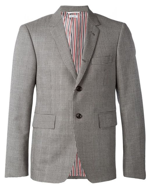 Thom Browne | Мужское Серый Houndstooth And Check Pattern Blazer