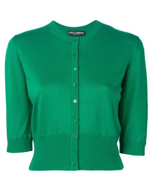 Dolce & Gabbana   Женский Зелёный Укороченный Кардиган