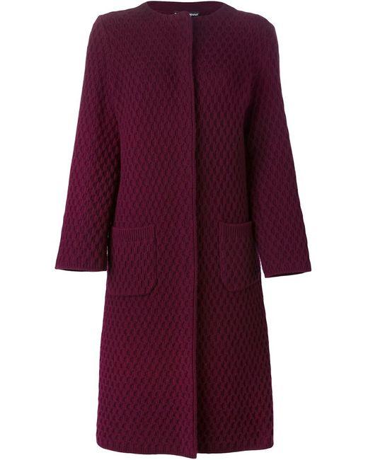 Dolce & Gabbana | Женское Розовый Honeycomb Knit Cardi-Coat