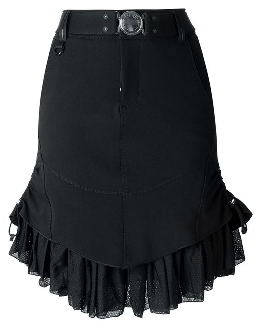 High   Женское Чёрный Ruffled Hem Skirt