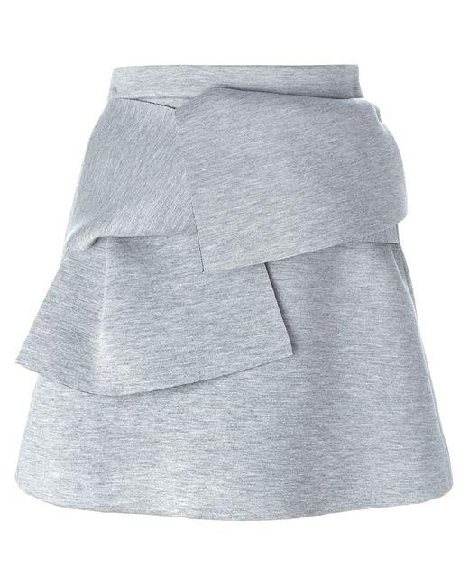 MSGM | Женское Серый Layered A-Line Mini Skirt