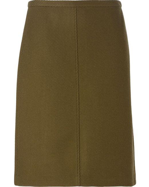 Theory | Женское Зелёный A-Line Skirt