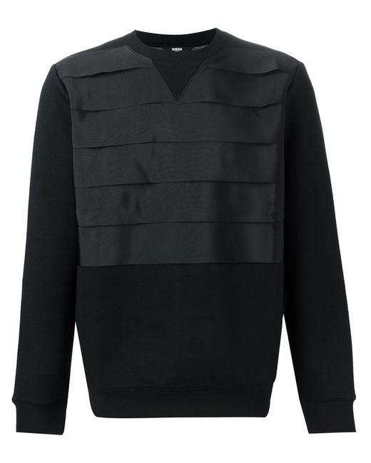 General Idea   Мужское Чёрный Pleated Panel Sweatshirt